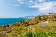 View on Yalta city in Crimea, Ukraine. Russia Royalty Free Stock Photography