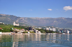 View of Yalta from the sea Royalty Free Stock Photo