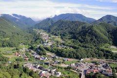 View from Yamadera in Yamagata, Japan Royalty Free Stock Photography