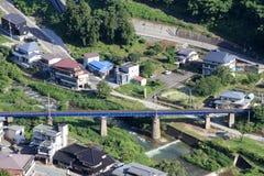 View from Yamadera in Yamagata, Japan Stock Photography