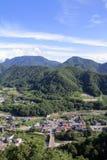 View from Yamadera in Yamagata, Japan Royalty Free Stock Photo