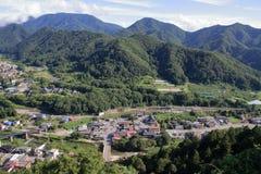 View from Yamadera in Yamagata, Japan Stock Image