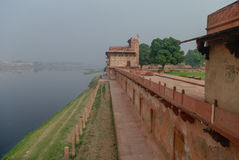 View of Yamuna river from Itmad-Ud-Daulah`s tomb in Agra, Uttar Stock Photos