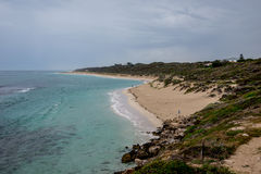 A view of Yanchep beach in cloudy weather, Western Australia Royalty Free Stock Photography