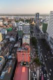 View of Yangon city in daylight from above Stock Photo