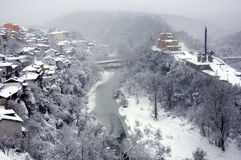 View of the Yantra River in January Royalty Free Stock Photography