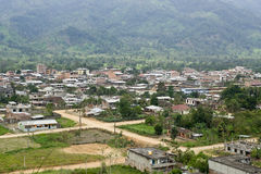 View of Yantzaza Ecuador. View overlooking Yantzaza Ecuador, a town at the edge of the Amazon Jungle royalty free stock photography