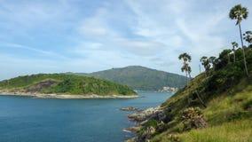 View of Yanui Beach and Koh Kaeo Noi on Phuket island, Andaman Sea in South Thailand. Royalty Free Stock Image