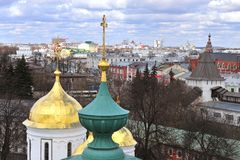 View of Yaroslavl old town. Top view of Yaroslavl old town Royalty Free Stock Photo