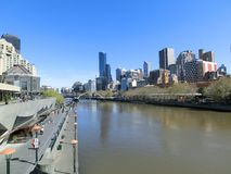 A view of the Yarra River, Melbourne, Victoria, Australia stock photos