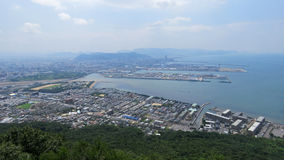 View from Yashima to Harbour of Takamatsu Stock Photos
