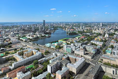 View of Yekaterinburg from observation deck on skyscraper, Russia Stock Image