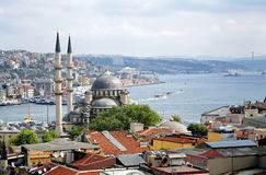 View of Yeni Mosque and Bosphorus, Istanbul Royalty Free Stock Images