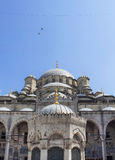 View of Yeni mosque. In Eminonu/Istanbul Royalty Free Stock Photography