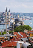View of the Yeni Mosque in Istanbul, Turkey stock photo