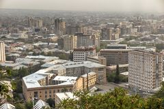 View of Yerevan, the capital of Armenia Stock Images