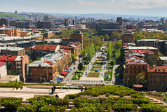 View of Yerevan from Cascade Stock Photo