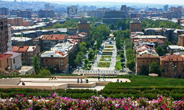 View of Yerevan from Cascade. Stock Images