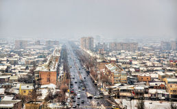 View of Yerevan from Erebuni Fortress Royalty Free Stock Photo
