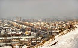 View of Yerevan from Erebuni Fortress Royalty Free Stock Photos