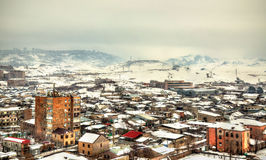 View of Yerevan from Erebuni Fortress Royalty Free Stock Photography