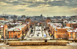 View of Yerevan with Opera Theatre Royalty Free Stock Photography
