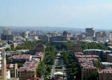 View of Yerevan from the top of Yerevan Cascade. stock photo