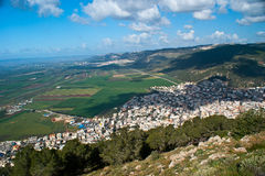 View of Yezreel Valley from mount Tabor Stock Photography