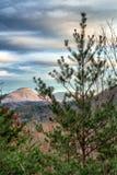 View of Yonah Mountain. Sunlit Yonah mountain - view of mountain knob Stock Photos