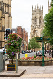 View of York Minster Cathedral from Dumcombe Place. York, Englan Stock Photography