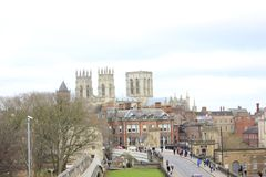 View at York Minster and city center stock photography