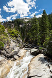 View of Yosemite National Park from Mist Trail and John Muir Trail Stock Photos