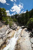 View of Yosemite National Park from Mist Trail and John Muir Trail Royalty Free Stock Images