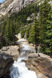 View of Yosemite National Park from Mist Trail and John Muir Trail, California, USA. Stock Photography