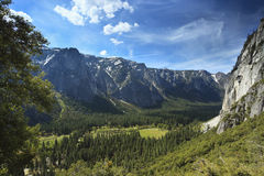 View of Yosemite Valley in spring Stock Images
