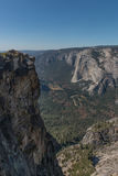 View of Yosemite Valley from Taft Point, Yosemite National Park Stock Images