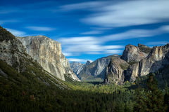 The view of the Yosemite Valley from the tunnel entrance to the Stock Images
