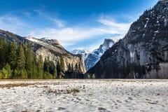 View of Yosemite Valley at winter with Half Dome - Yosemite National Park, California, USA Royalty Free Stock Photo