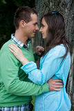 View of young couple Royalty Free Stock Photo