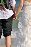View of young couple's back Stock Photo