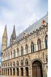 Ypres historical lakenhal building - Belgium royalty free stock photos