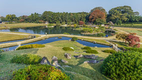 View from Yuishinzan Hill at Korakue-en garden in Okayama Royalty Free Stock Photos