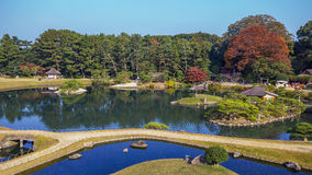 View from Yuishinzan Hill at Korakue-en garden in Okayama Stock Images