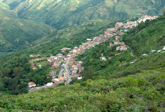 View of Yungas - Chulumani, Bolivia. Chulumani - a small village in Yungas, Bolivia Royalty Free Stock Photography
