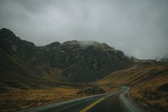View of the Yungas Road or Death Road, Bolivia royalty free stock image