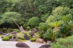 View in Yuzen-en garden at Chion-in Buddhist Temple. Stock Photos