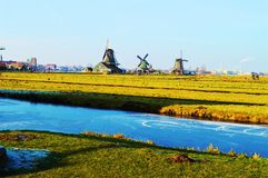 View of Zaanse Schans, Holland stock images