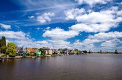 View in Zaanse Schans in North Holland Royalty Free Stock Images