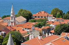 View of Zadar from the tower of Saint Donat church Stock Photos