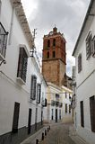View of Zafra and tower Stock Photo